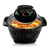 Black Digital Halogen Convection Oven Cooker with Lid Air Fryer Accessories Glass Bowl