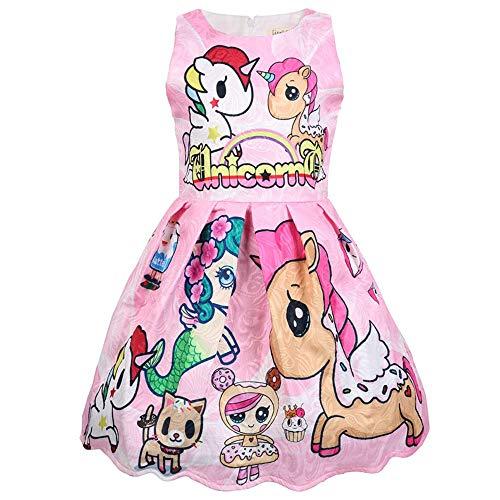 QYS Mein kleines Pony Kostüm Mädchen Cartoon Childs Kinderkostüm Outfi,pink,110cm