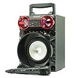 Karaoke Digivolt hifi-31altoparlante Bluetooth lettore mp3lettore Multimedia USB Microfono Radio FM Ingresso AUX Purpura immagine