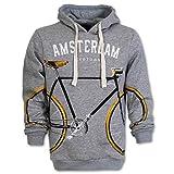 Amsterdam Hoodie Sweater Biketown Grau (Grau, XXL)