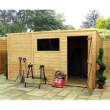 3 x 2,5 m Cobertizo de jardín Tongue and Groove de una puerta hecho