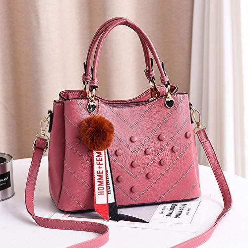 Fyyzg Mode Handtaschen Europa und den Vereinigten Staaten Big Bag Handtasche einfache Handtasche Diagonale Paket Mode - blau Jade pink