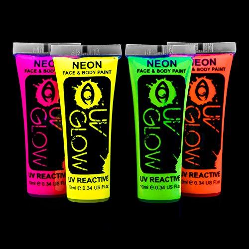 uv-glow-lot-de-4-tubes-de-peinture-fluorescente-pour-le-visage-et-le-corps-4-x-10-ml