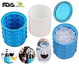 Ice Genie Azul Hielo Cubo Mantiene hasta 120cubitos de hielo, 40Pack Formas cubitos de hielo...