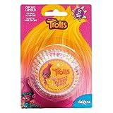 TROLLS 339244 Caissettes Cupcakes avec Design Trolls-50 Unités, Papier, Multicolore, 5 x 5 x 3 cm