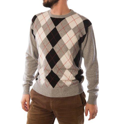 Dunedin Cashmere - Pull -  Homme Multicolore Bigarré Gris - Gris clair