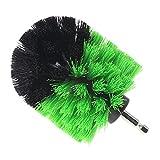 Runrain Bohrmaschine-Ball-geformter Bürsten-Plastikdraht, der Bürsten für Autoreifen scheuert (Green&Black)