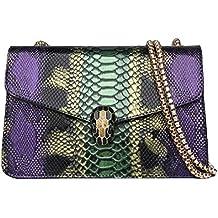 Bolso de mujer con diseño de serpiente y contraste de la moda europea y americana