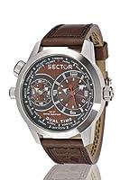 Reloj de caballero Sector Urban R3251102055 de cuarzo, correa de piel color marrón de Sector