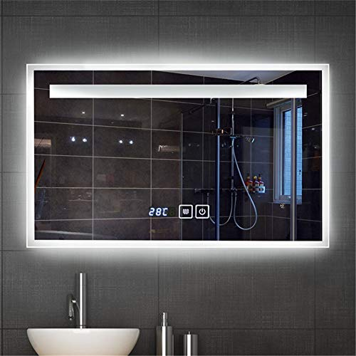 KJUHVBF Espejo de baño Iluminado, antiniebla, Inteligente LED, Maquillaje de múltiples Funciones...