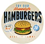3 x Teller Set 25cm Melamin Barbecue Homestyle Hamburgers