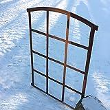 Antikas | Stallfenster | Eisenfenster mit 12 Feldern |ca. 78,5 x 56 cm | Leichter Stichbogen