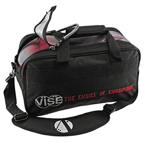 Vise Grip Clear Top - Double Tote - Schwarz, Bowling-Ball Tasche für Zwei Bowlingbälle und etwas Zubehör