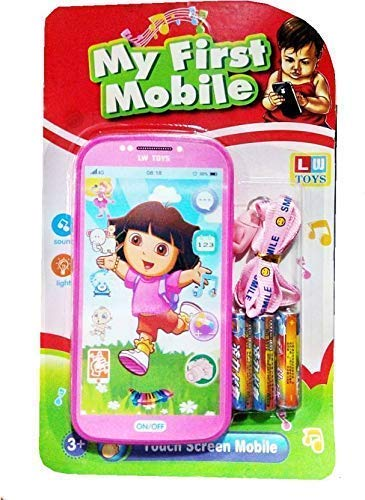 Shreeji Retails Dora Digital Mobile Phone with Touch Screen Feature, Amazing Sound and Light Toy