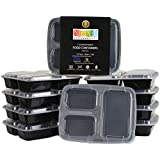 *24 HOUR SALE* Premium Food Containers with Lids by NimNik, Stackable Plastic Storage Bento Lunch Box, Reusable, Microwave Safe, 10-Pack