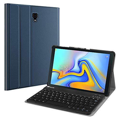 Fintie Tastatur Hülle für Samsung Galaxy Tab A 10.5 SM-T590/T595 2018 Tablet-PC - Ultradünn leicht Schutzhülle mit magnetisch Abnehmbarer drahtloser Deutscher Bluetooth Tastatur, Marineblau