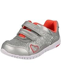 6a22b124e3a6 Infant Girls First Trainers Azon Maze - Silver Metallic Combi - UK Size 4F  - EU