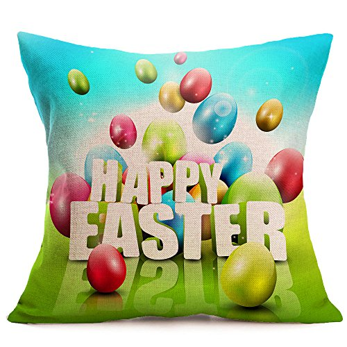 friendGG_Easter Schlafsofa Home Decoration Festival Kissenbezug Kissenbezug Square Toss Kissenbezug Versteckter Reißverschluss erschwinglich Komfortabel Lässig Zurück Neu