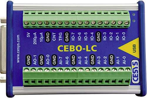 cesys c028152Box de Mesure USB 14/7analog-in 16Bit 2analog-out 20Dig. Ich isoliert galvani (Dig-box)