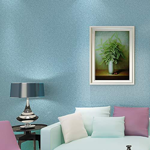Soie simple couleur unie TV fond d'écran salon chambre bleu 53X1000cm