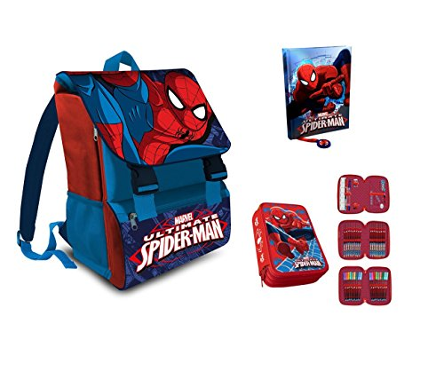 IRPot - SET SCUOLA N1 SPIDERMAN ZAINO (SP16101) + ASTUCCIO (AS9044) + DIARIO