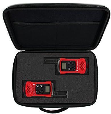 DURAGADGET Maletín Customizable Para Walkie Talkie Motorola T40 - Con Asa + Bandolera Regulable