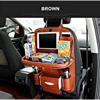 OCTOPUS PRIME PU Leather Car Back Seat Hanging Foldable Auto Multi-Pocket Pad Cups Car Tissue Storage Organizer Holder…