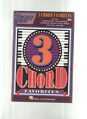3 Chord Favorites (Easy Electronic Keyboard Music) [Paperback] by Hal Leonard