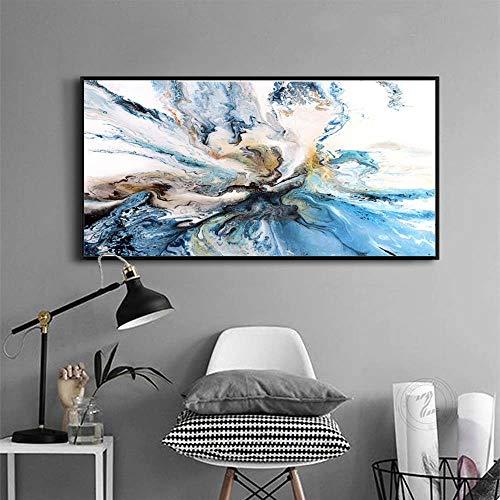 Battle of the peak Leinwand Gemälde Wandkunst Bilder Für Wohnzimmer Wohnkultur Abstrakte Unwirkliche Wolken Leinwand Ölgemälde Gedruckt Kein Rahmen Poster und drucke Kein Rahmen -