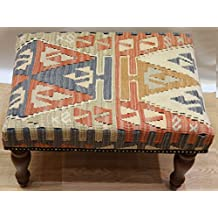 Antique Anatolian Kilim Stool   Size: 60 X 40 Cm Code R4535. By Kilim  Furniture