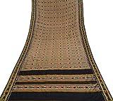 Vintage indische Sari Brown Craft Stoff Reine Patola Seide