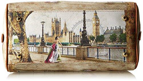 Y NOT? Bauletto, Sac à Main Multicolore (Amazing London)