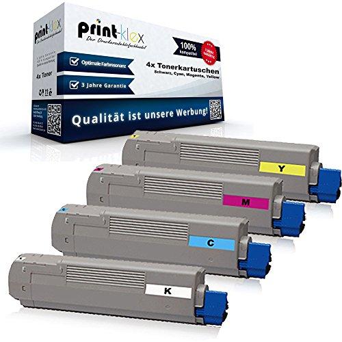 C830 Magenta Toner (4x Kompatible Tonerkartuschen für OKI C810 C810 CDTN C810 DTN C810 DN C810 N C830 C830 CDTN C830 DTN C830 DN C830 N Black Cyan Magenta Yellow - Rainbow Kit - Color Line Serie)