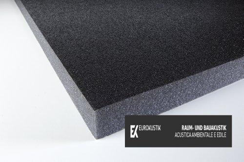 Akustikschaumstoff verhautet mit Schutzschicht für Dämmung Kompressor - Schwarz 100 x 50 x 3 cm 0,5m2