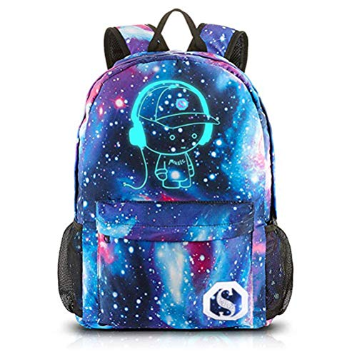 FEWOFJ Mochila Escolar Galaxia para Niño Niña