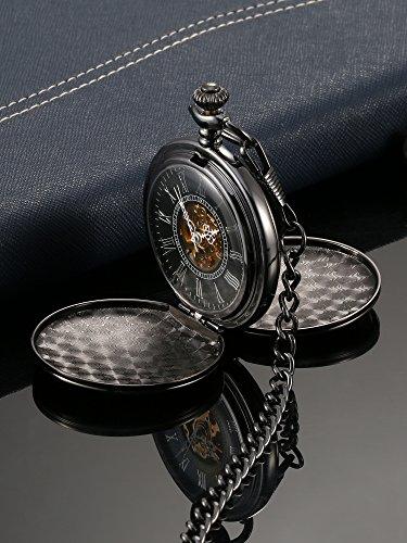 Glatt-Doppelabdeckungen-Antike-Skeleton-Mechanische-Taschenuhr-Weihnachten-Hochzeit-Geburtstag-Geschenk