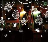 ZEARO Fensteraufkleber Weihnachten-Weihnachten Sterne Weihnachten Fenstersticker (W237*H80)