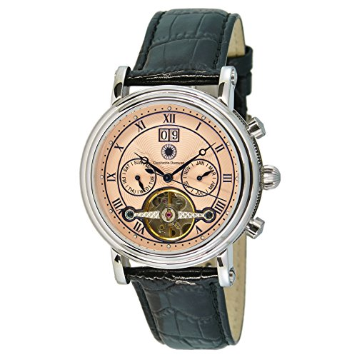 Constantin Durmont Gents Watch XL Analogue Automatic Leather Salinas CD Sali-At-Lt-PK-STST