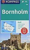 KOMPASS Wanderkarte Bornholm: 4in1 Wanderkarte 1:50000 mit Aktiv Guide und Stadtplan inklusive Karte zur offline Verwendung in der KOMPASS-App. ... (KOMPASS-Wanderkarten, Band 236)