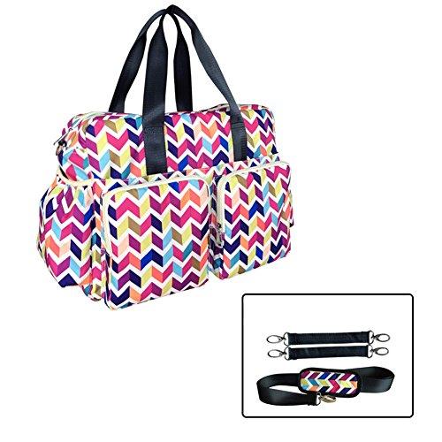 Kangming 5x Streifen Baby Wickeltasche, Set Krankenhaus Mutterschaft Tasche mit isolierter Flaschenhalter Wickelunterlage Style A