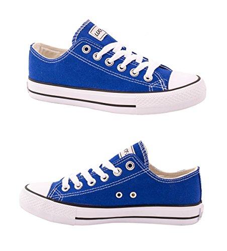 élara Unisexe Sneaker | confortable Chaussures de sport pour homme et femme | Low Top Turnschuh Textile Chaussures 36–46 DkBlue