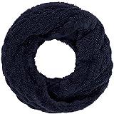 Compagno Winter Loop-Schal Damen-Schal gefüttert Winter-Schal Strick-Schal, SCHAL Farbe:Marineblau