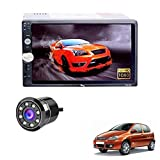 Accedre 7060/7002/7018 Double Din HD Touch Screen & Mirror Link with Car Rear View 8LED Night Vision Camera-Tata Indica