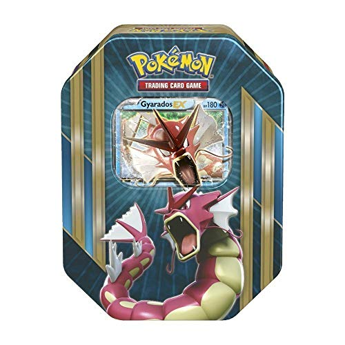 Lively Moments Pokemon Karten Tin Box Shiny Gyarados-EX in rot EN Englisch Trading Card Game / Metallbox