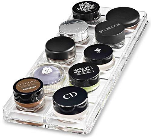 byAlegory Pot de peinture acrylique/maquillage Shadow Cream Organizer | 10 Espaces