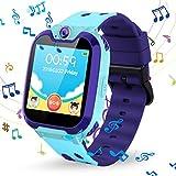 Kinder Smartwatch Phone, Vannico Touchscreen Smart Watch für Kinder Kids Smart Watch Uhr für Jungen und Mädchen mit SOS (S11-Blau)