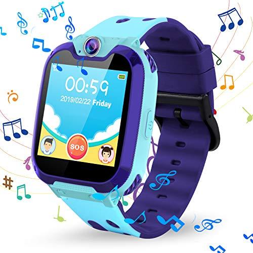 Kinder Smartwatch Phone, Vannico Touchscreen Smart Watch für Kinder Kids Smart Watch Uhr für Jungen und Mädchen mit SOS (S11-Blau) (Kids-uhren)