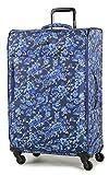Members Vogue Leichtes Gepäck Bedruckt vier mit Rollen Koffer - blaue Blumen Druck, Set of 3