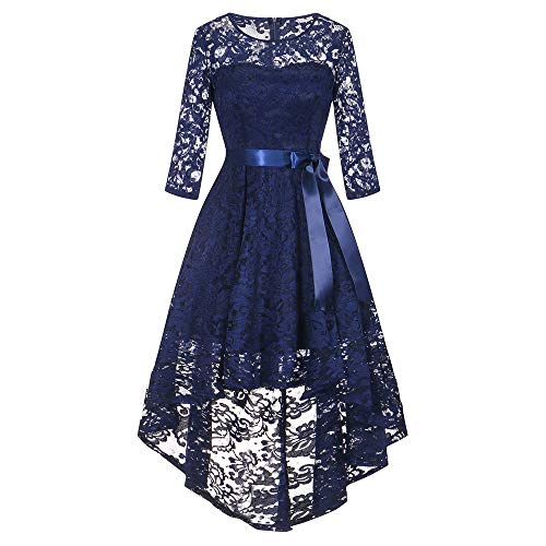 MRULIC Brautkleid Abendkleid Schön Party Cocktail Dress Lace Hohler Rundhals...