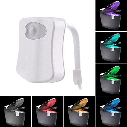Upgrading Toilettenlicht Mit 8 Verschiedenen Farbwechsel Batteriebetriebene Design-Toilette Nachtlicht Bewegungsmelder WC-Schüssel LED Nur in Dunkelheit Aktiviert